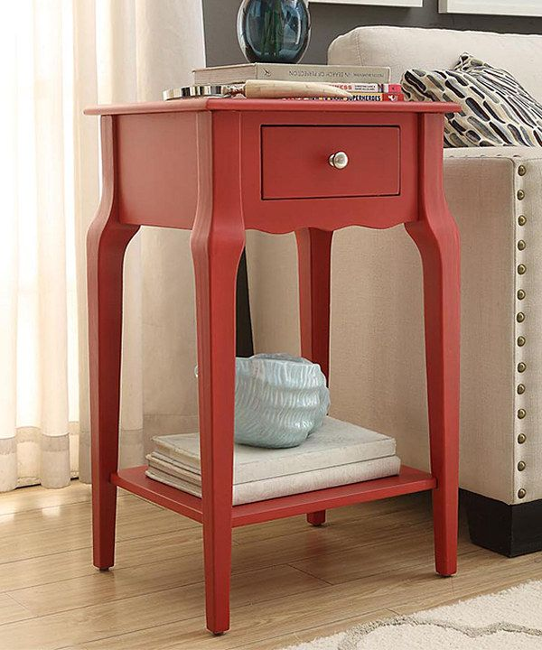 Red Accent Table Cute