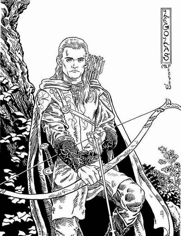 Legolas The Hobbit Coloring Pictures | movie coloring and activity ...