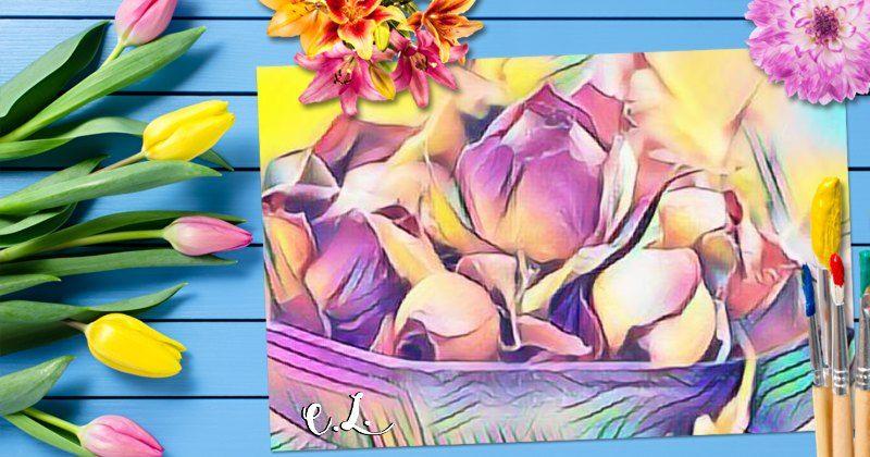 Dein Bild in den Farben des Frühlings gemalt! Hier klicken!
