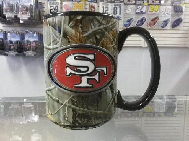 NFL San Francisco 49ers 15oz Ceramic RealTree Camouflage Mug with Team Logo