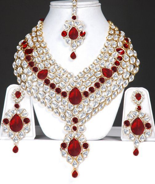 Indian Jewlery Indian Bridal Kundan jewelry set Online Shopping