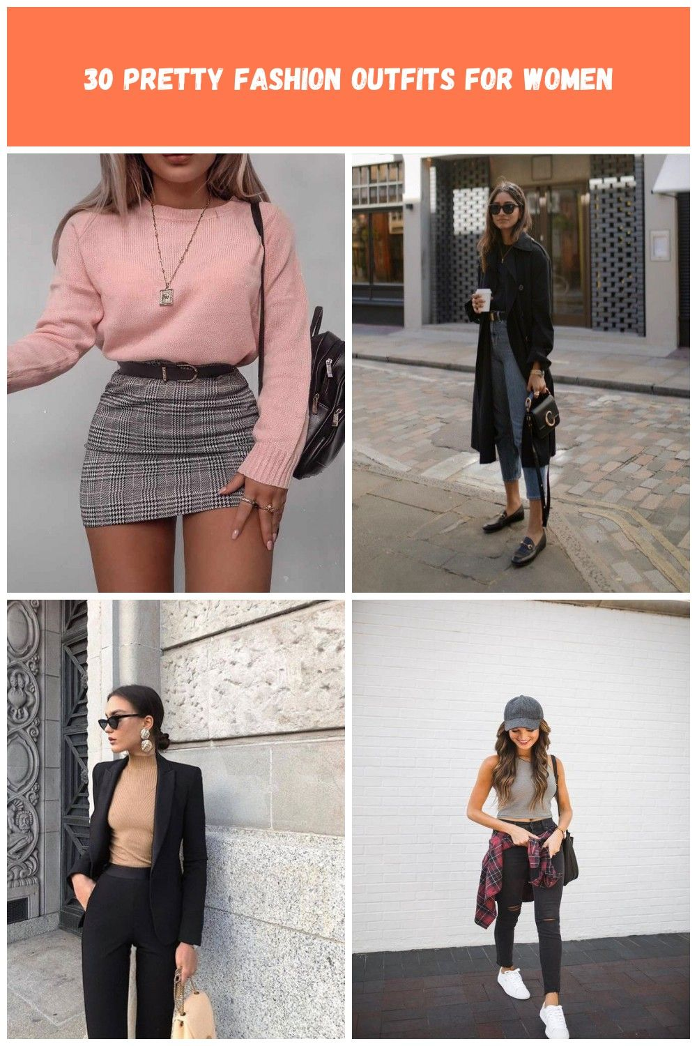 Plaid Skirt With Pink Sweater #plaidskirt #miniskirt ★ Cute casual back to school outfits for teens, highschool and for college, to make your first day of school unforgettable!  ★ #backtoschooloutfits #schooloutfits #schoolstyle #outfitsforschool #sexylook #casuallook #glaminati modetrends #firstdayofschooloutfits