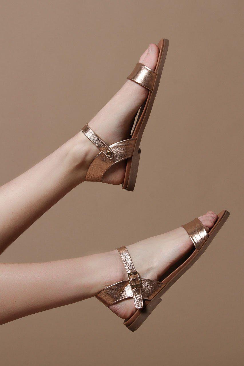 b2ee8ef229fc Steve Madden Dina Metallic Sandal - Rose Gold
