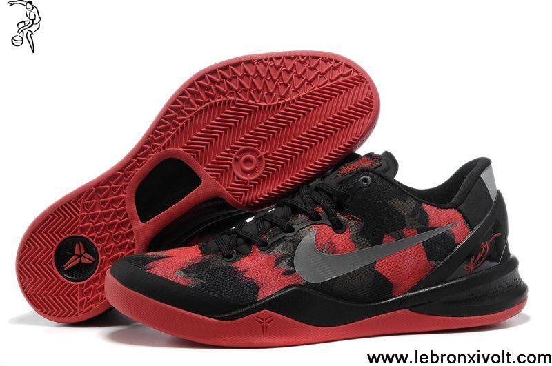 NIKE ZOOM KOBE VIII BLACKRED | Mens nike shoes