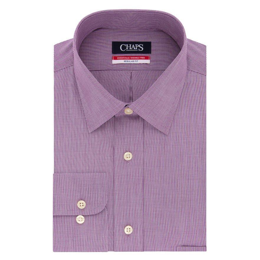 Essentials Mens Regular-fit Wrinkle-Resistant Stretch Dress Shirt