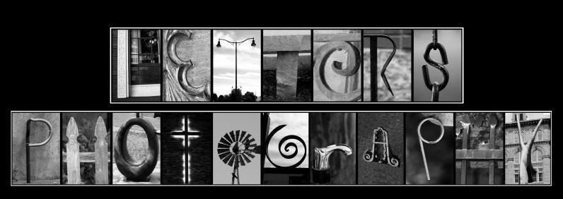 letter photography art word nature alphabet name individual 4x6 prints sepia