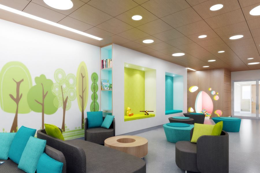 London Hospital Childrens Waiting Room Interior In 2020 With