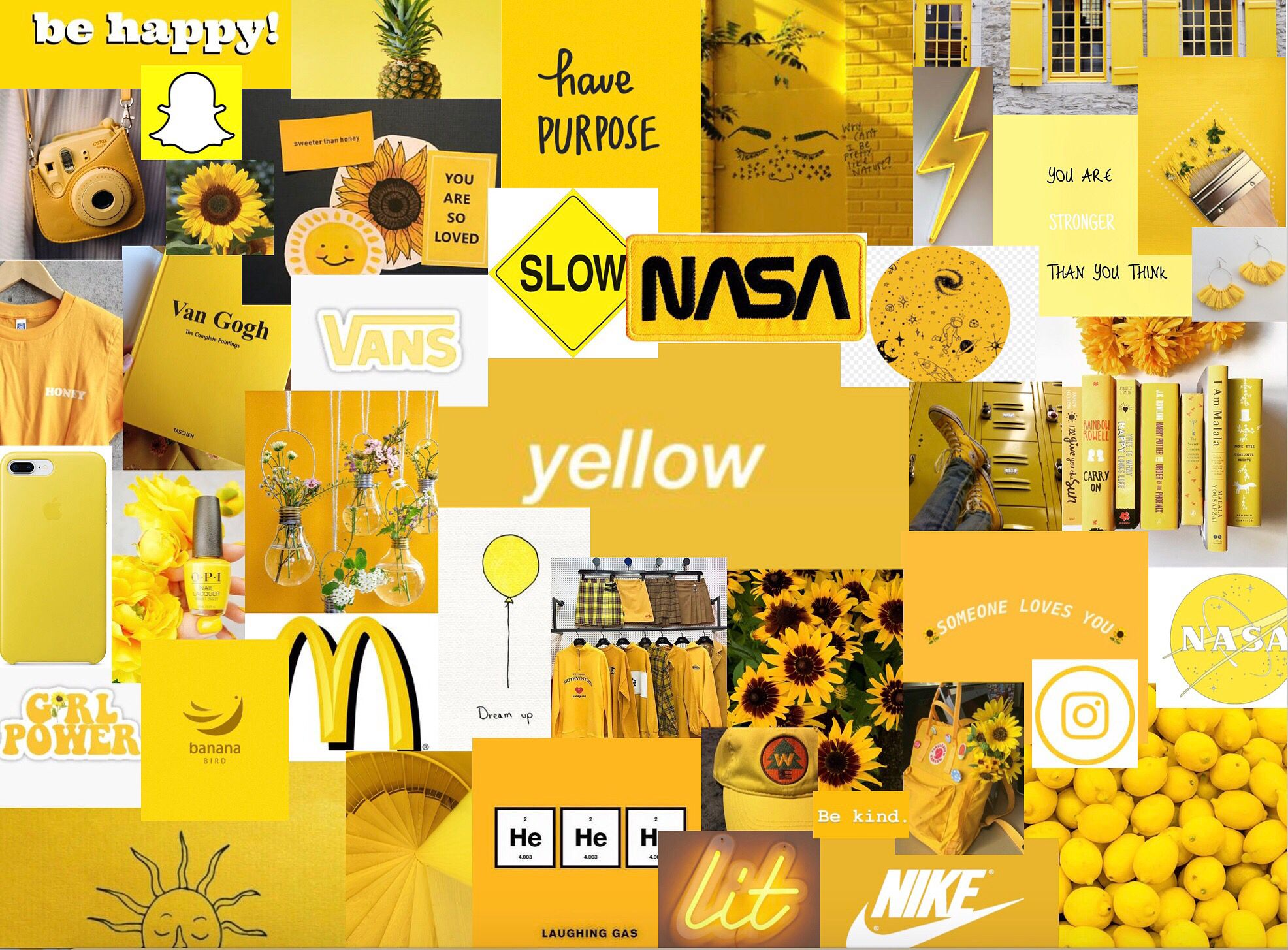 Yellow Collage Happy Colors Yellow Aesthetic Aesthetic Collage
