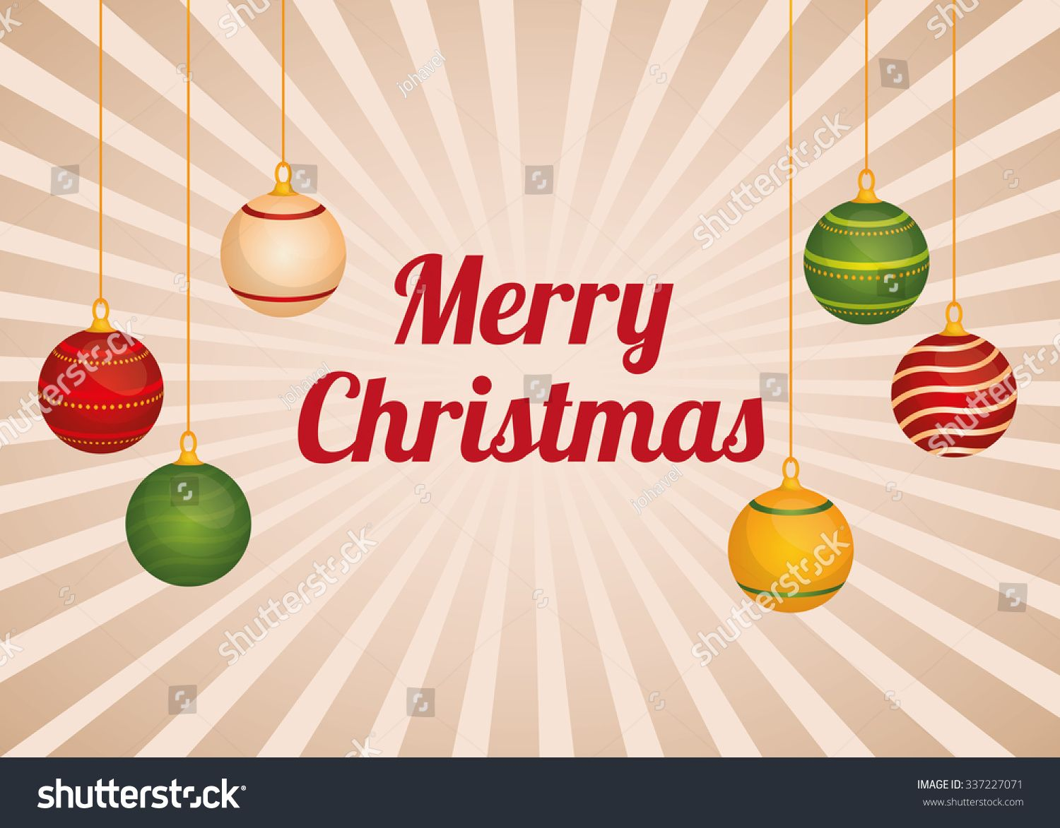 Merry Christmas concept with decoration icons design