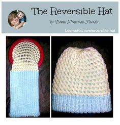 Loom knit reversible hat free pattern knitandloom pinterest loom knit reversible hat free pattern dt1010fo
