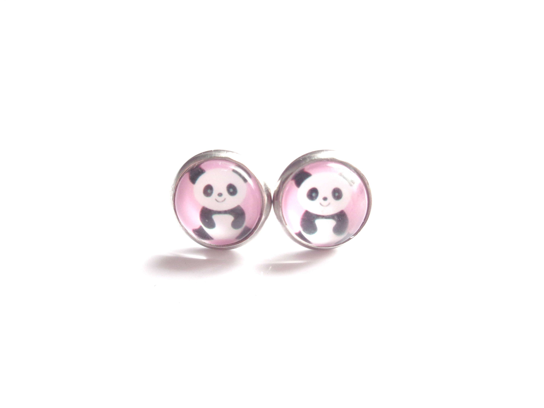Panda Earrings, Bear Earrings, Stud Earrings, Girl Earrings, Little Girl  Earrings,