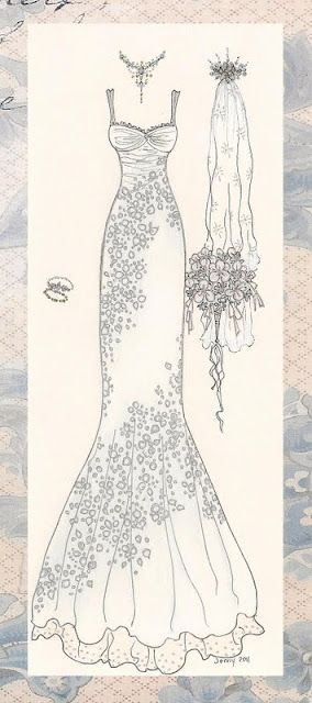 Wedding dress, embroidery | coloring | Pinterest | Dibujos, Bocetos ...
