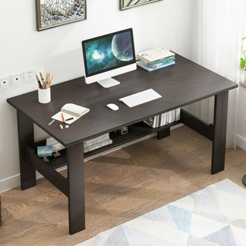 Wood Computer Desk Pc Laptop Table Workstation Study Writing Home Office W Shelf Ebay In 2020 Home Office Furniture Desk Pc Desk Computer Desks For Home