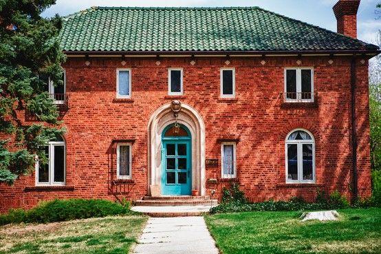 Best Turquoise Front Door Weird But Will Work With Brick 400 x 300