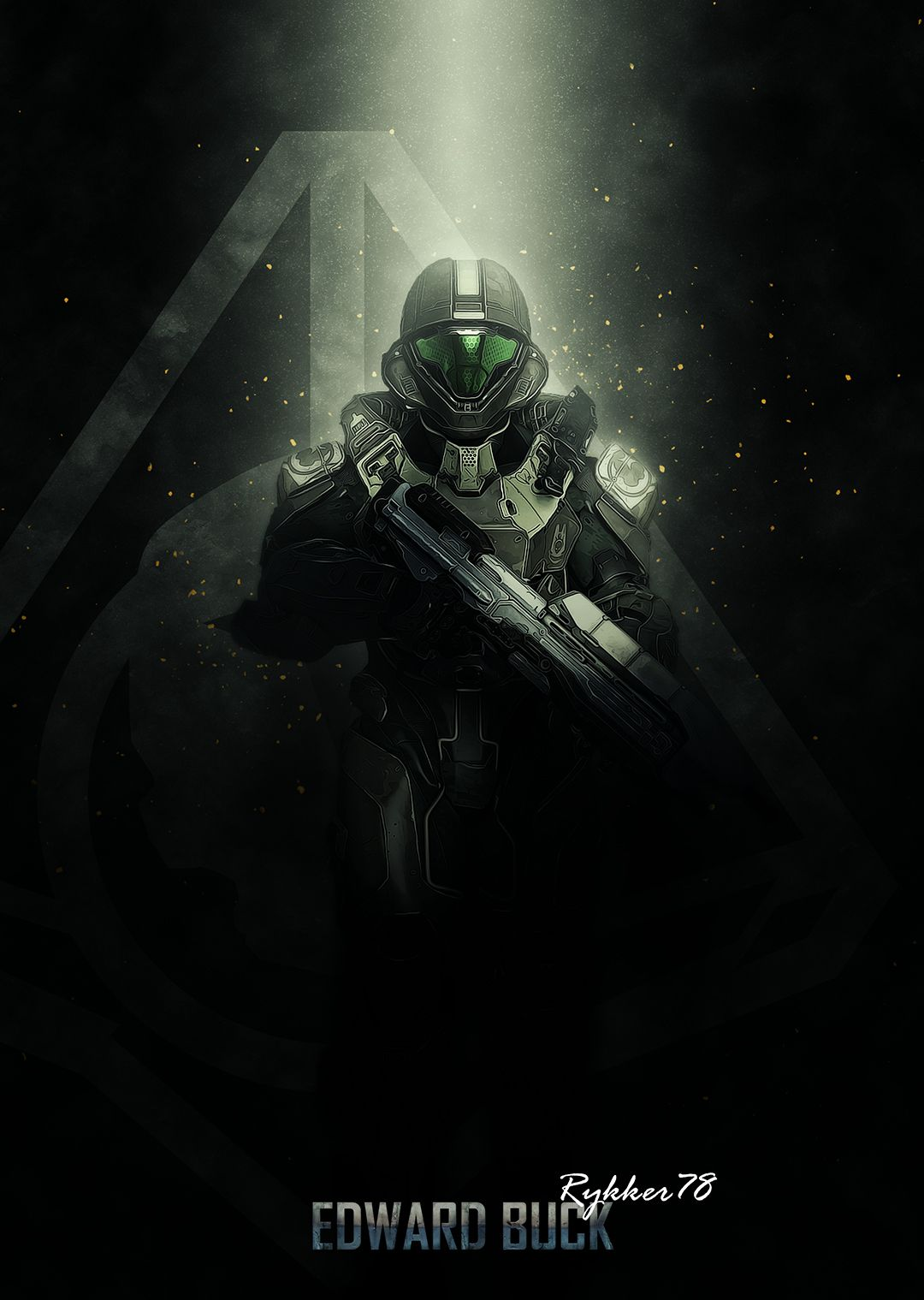 Buck From Halo Space Poster Print Metal Posters Halo Halo