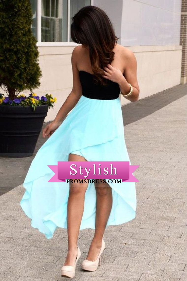 simple style prom dresses sweetheart a line with highlow
