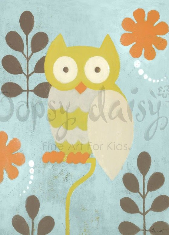 Hootie Owl - Animals Canvas Wall Art | Oopsy daisy | Nursery Art ...