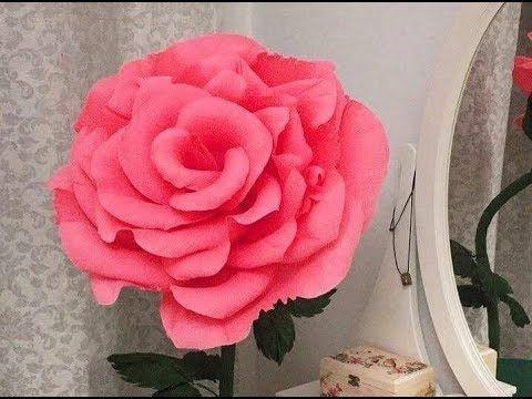 Como Hacer Flores De Papel Crepe Rosas Gigantes De Papel Rosa De