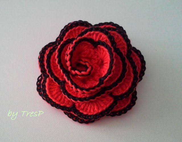 Rosas crochet Flores de amapola Pinterest Flores de amapola