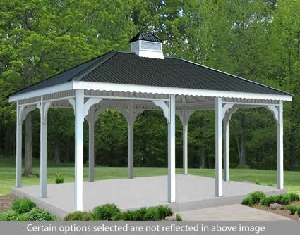 12 X 14 Vinyl Rectangular Gazebo Rectangular Gazebo Gazebo Screened In Patio