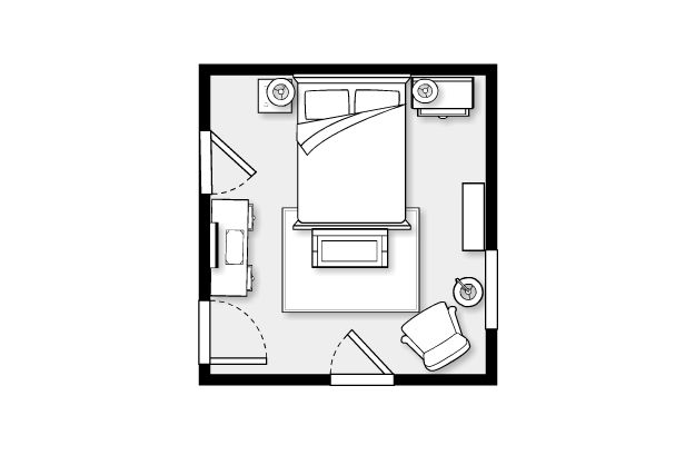 12 X 13 Bedroom Layout Using Urban Barn The Make Room Master