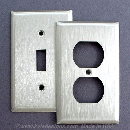 302 Stainless Steel Switch Plates Corrosion Resistant Outlet Covers