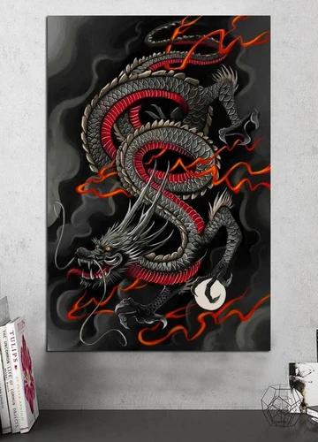 Tableau Japonais Dragon