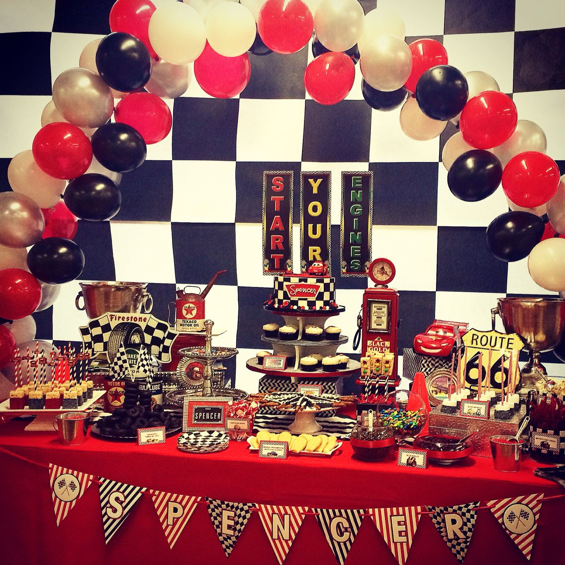 Cobalt Events Kids Party: CARS Candy U0026 Dessert Table