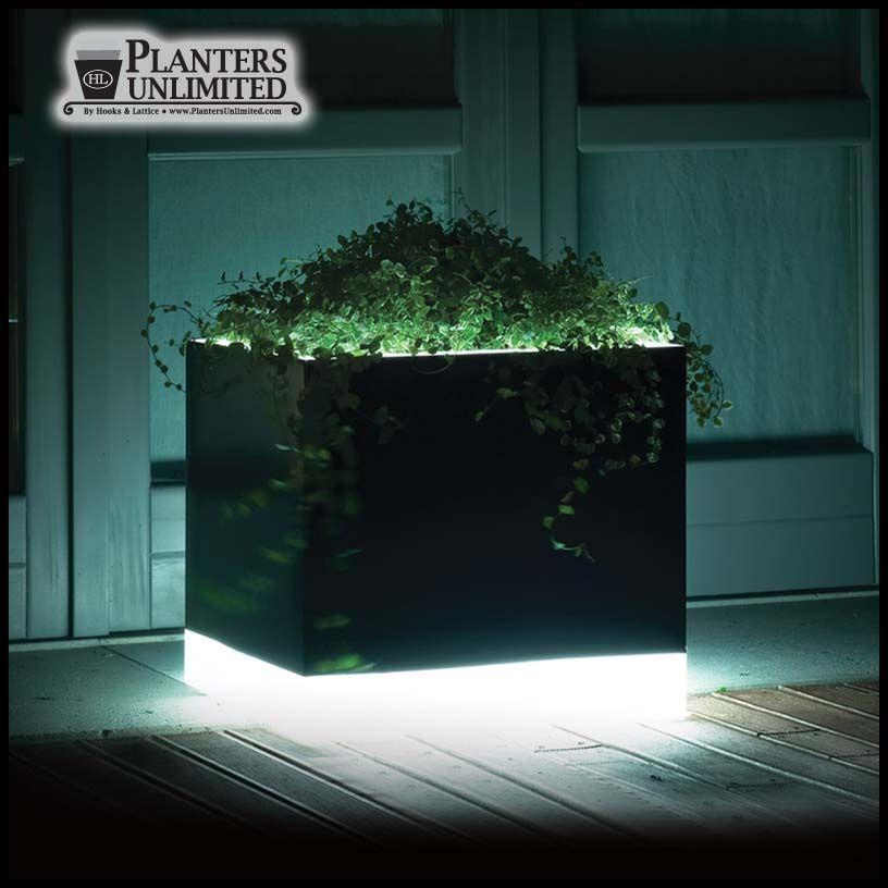 15 L X 15 W X 13 H Mezzaluna Illuminated Planter Diy Planters Outdoor Outdoor Planters Outdoor Patio Designs