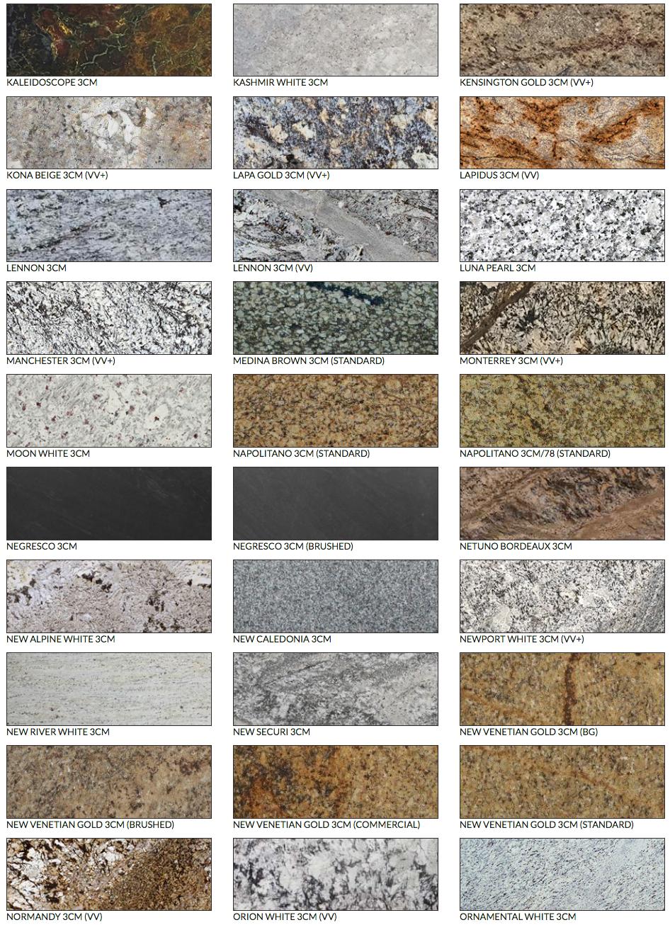 Verona Granite Selection Granite Countertops Grey Granite