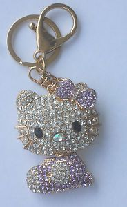 Hello Kitty Large Rhinestone Retractable Fashion KEY Chain Backpack Charm | eBay