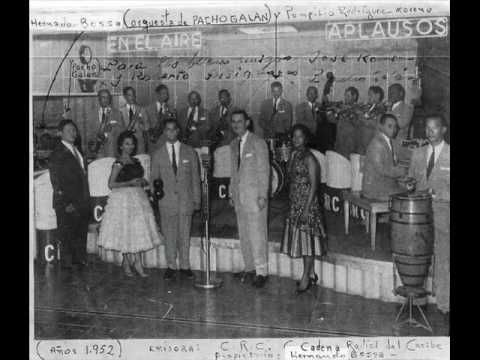 Pacho Galan (1906—1979) was a Colombian composer and band leader of several Colombian music forms, including porro, cumbia, gaita and merercumbe. His songs include Boquita Sala, Rio Y Mar, Fiesta de Cumbia, Cumbia Alegre and Ay Cosita Linda, which became one of his most famous after Nat King Cole recorded his own rendition of the song.