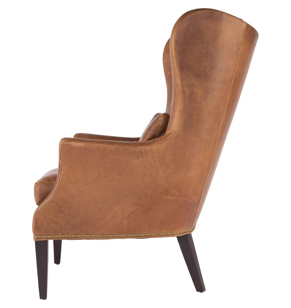 Clinton Modern Wingback Chair  Wingback Chairs Modern And Upholstery Stunning Leather Dining Room Chairs With Arms 2018