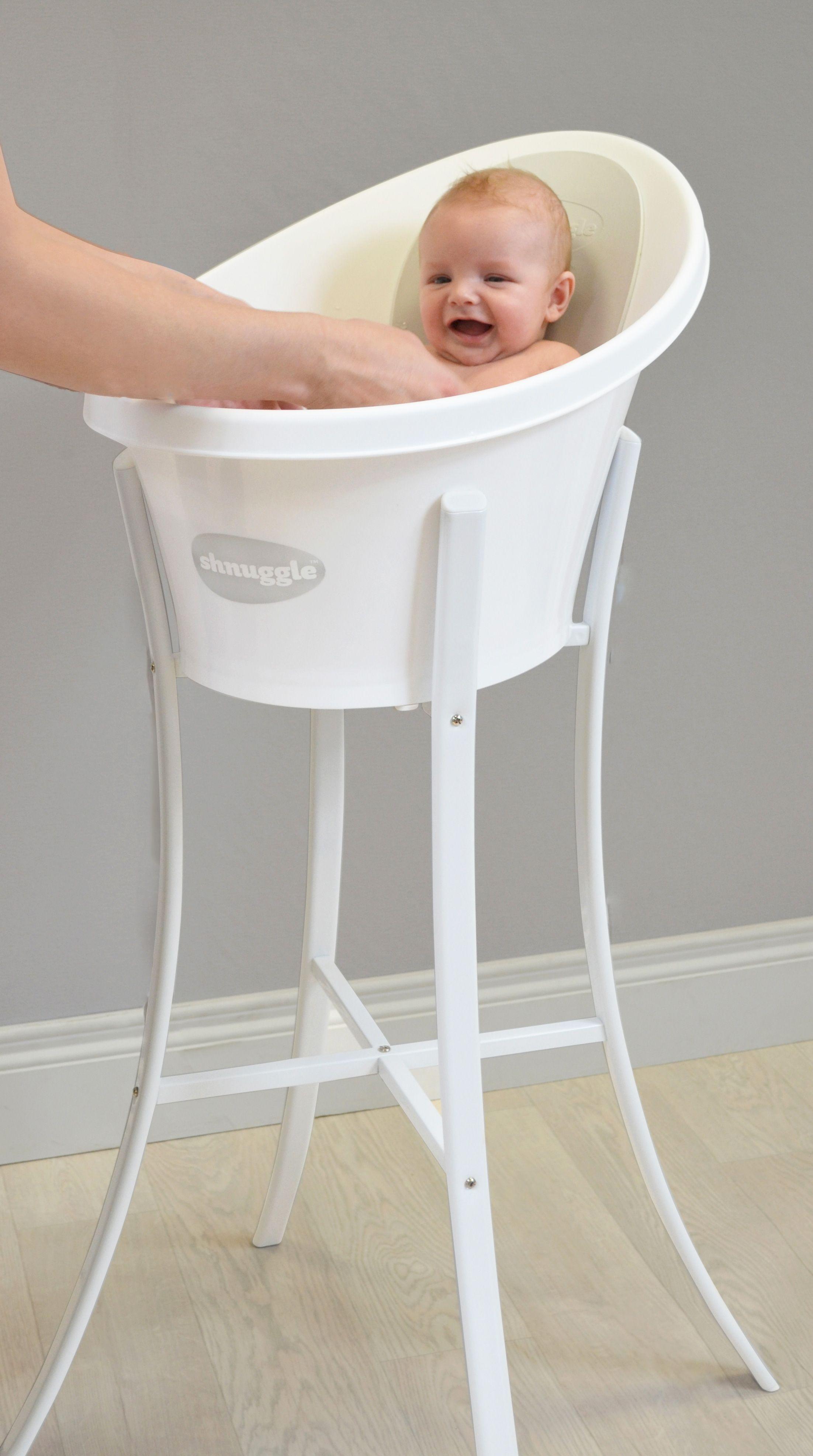 Shnuggle Bath (Grey backrest) and stand | Grey Nursery ...