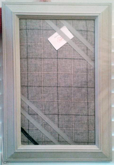 Bespoke Framed Pin Board With Kintyre Upholstery Weight Fabric From