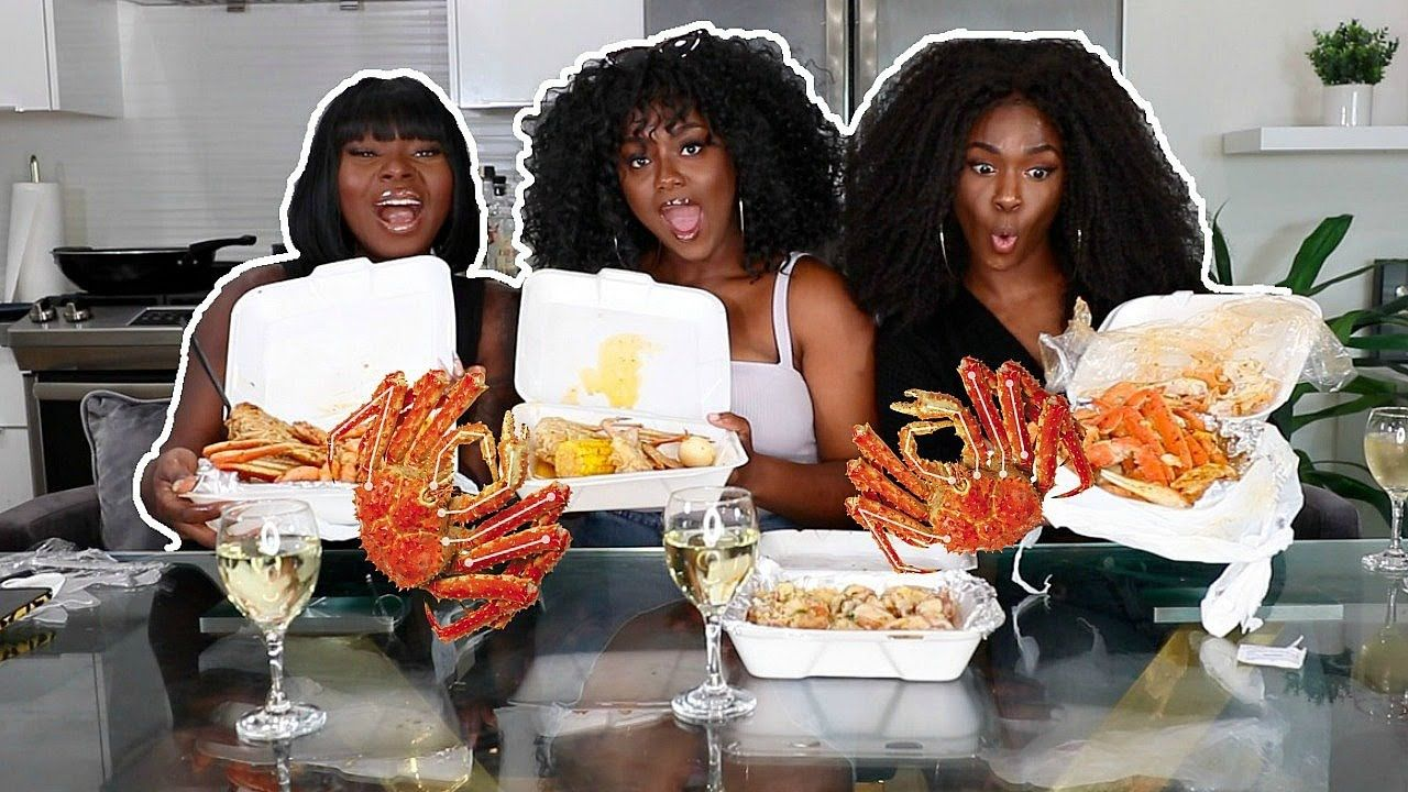 The TRUTH about being BLACK INFLUENCERS| Seafood Boil Mukbang - YouTube #seafoodboil