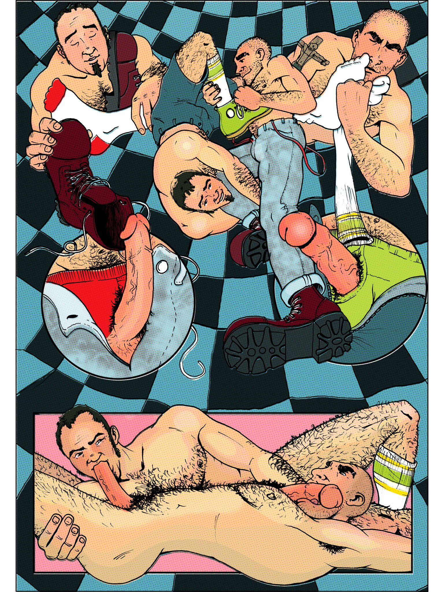 """""""The Welcome-Back Fuck"""" gay erotic mini-comic is now up for sale for only $1.35!  Buy and download at http://rbn.co/drub  Script by Dale Lazarov // Art by Drubskin :)"""