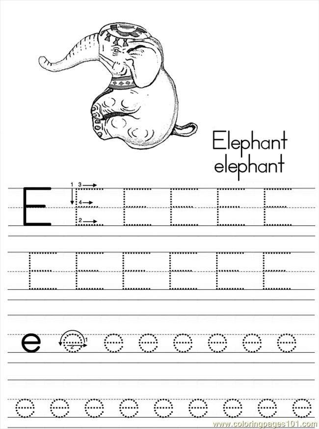 Explore Free Printable Coloring Pages Letter E And More
