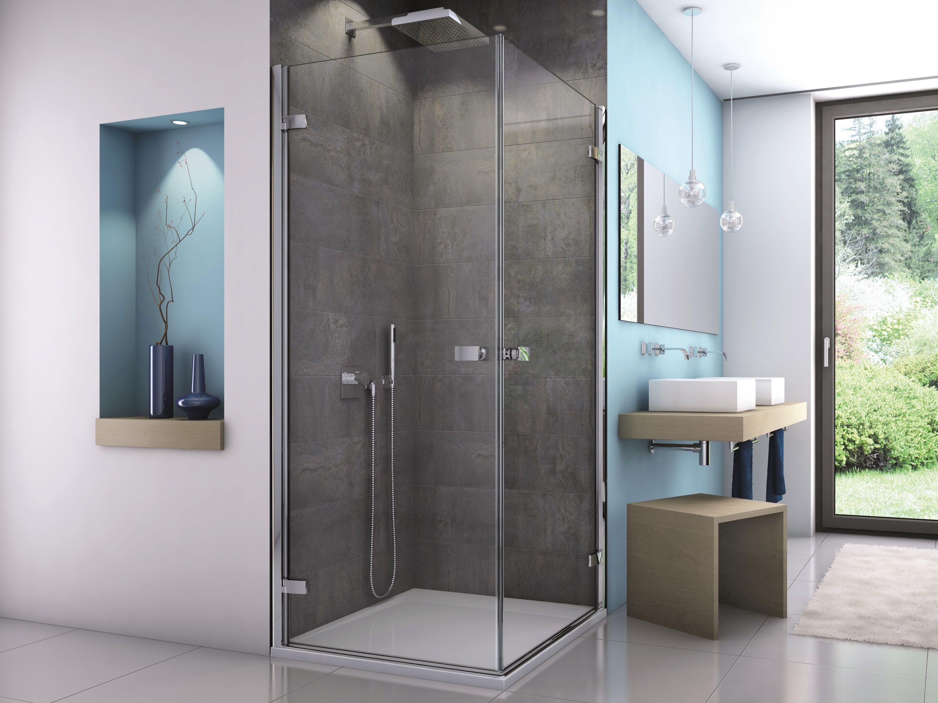 Dusche Eckeinstieg Rahmenlos Duschkabine Eckduschen Und