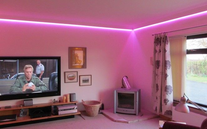 Led living room lighting ideas led wall wash lighting diy home | I ...