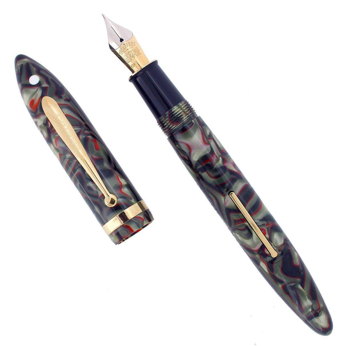 Silver Ripple Medium nib fountain pen new