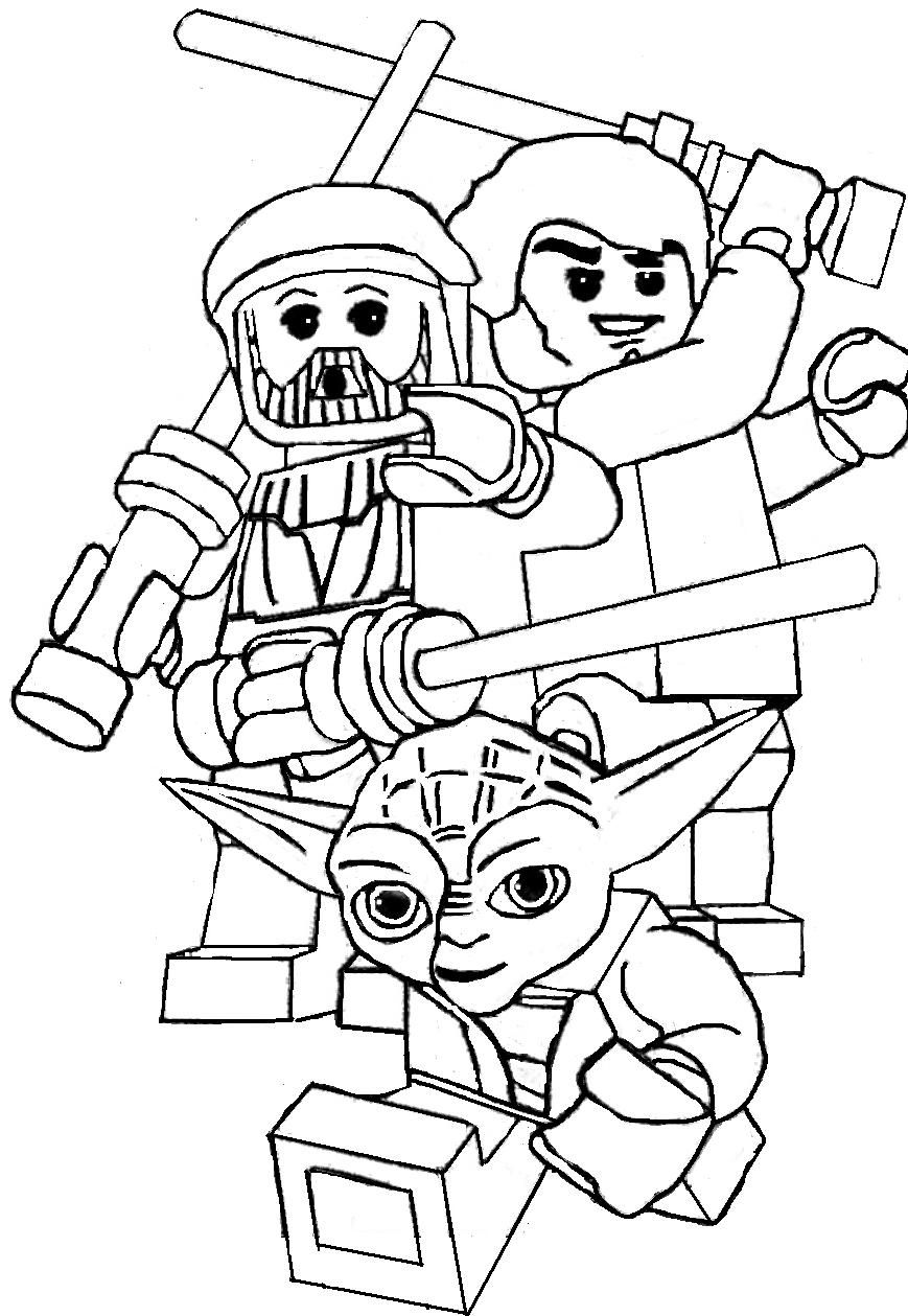 Yoda And The Two Friends Coloring Page