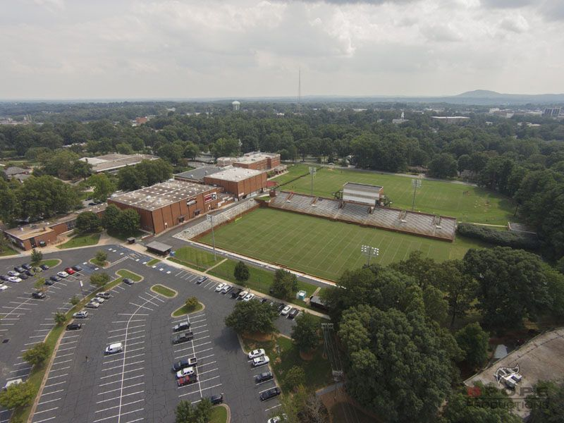 Aerial Photo Taken Of Lenoir Rhyne University S Moretz Stadium Pre