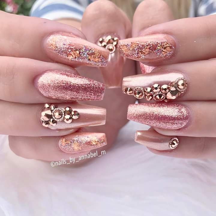 100 Prom Nail Art Designs for Stunning Prom Nails | Diseños de uñas ...