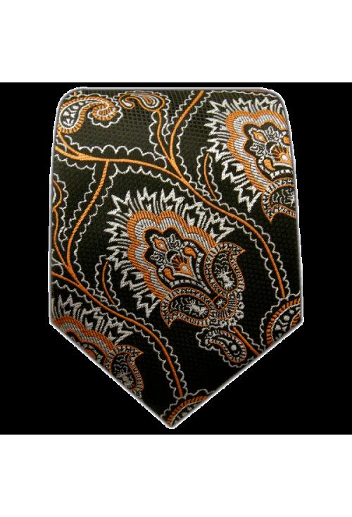 Designer Krawatte aus 100 Seide in den Farben schwarz