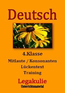 mitlaute konsonanten alle buchstaben deutsch 4 klasse bungsbl tter unterrichtsmaterial. Black Bedroom Furniture Sets. Home Design Ideas