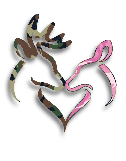 Buck And Doe Tattoos For Couples: Buck And Doe Camo Heart Decal...love This!