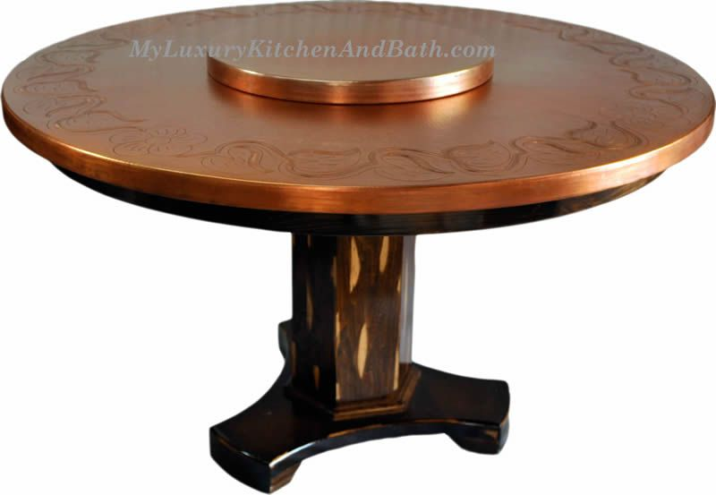 tables custom_copper_table_chair_withdesign_km_completed_tablelazysusan1_800 - Copper Kitchen Table