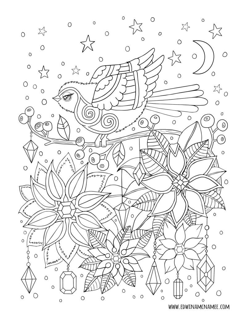 Pin Van Laetitia Ara Op Edwina Mc Namee Kleurplaten Kleurboek Bloem Kleurplaten
