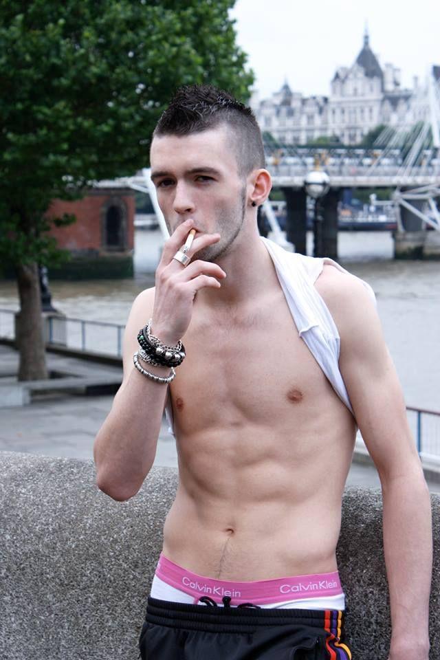Smoking gay boy